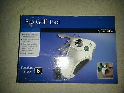 NEW in Box -Totes Pro Golf Tool 6-in-1 Multi Functions - NIB