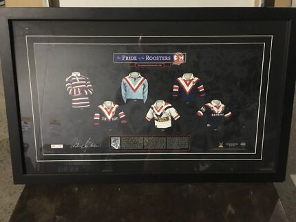 Sydney roosters memorabilia with authenticity certificate