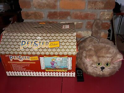 1985 Axlon Petster Deluxe Motion Pet Toy Sound Activated Robot Kitty Cat Remote](Sound Activated Toy)