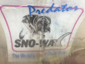 used sno-way predator 7 5' full trip snow plow for parts  hyd angle