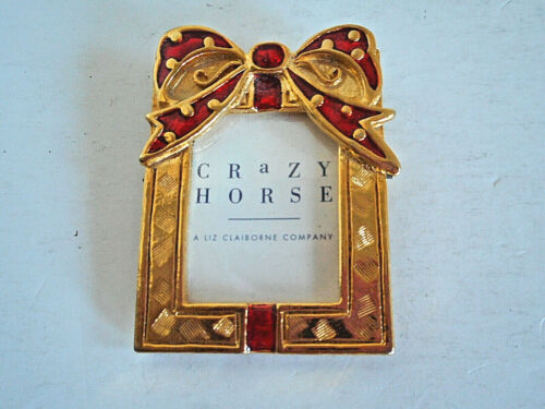 Liz Claiborne CRaZY HORSE Miniature Picture Frame New without Tags