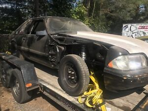 1989 mustang drag car project