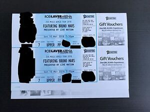 PHYSICAL Bruno Mars Tickets March 10th - Section 59 Reserved Seat Clayton Monash Area Preview
