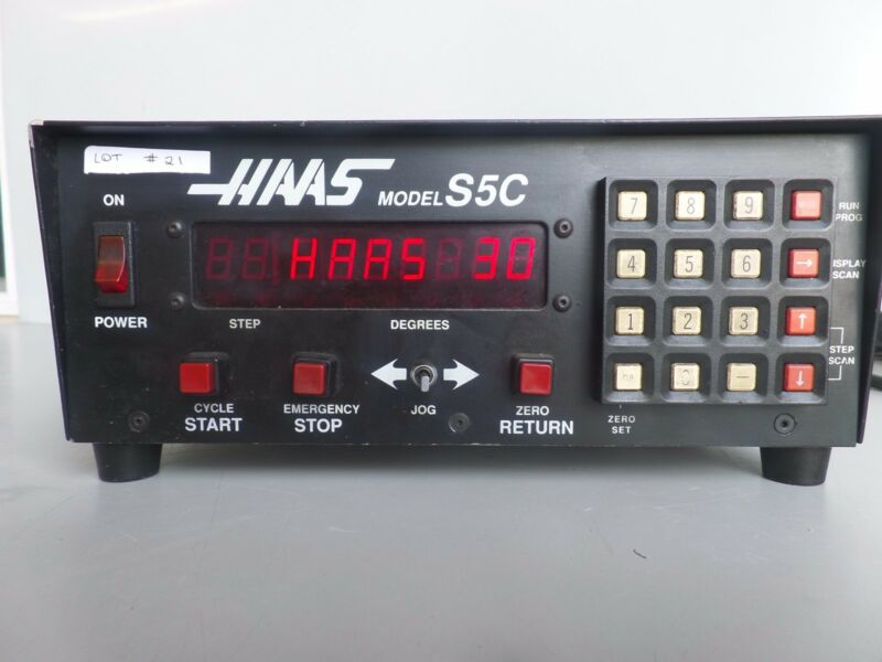 HAAS CONTROL BOX SOFTWARE-30 BRUSH 17 PIN ROTARY TABLE INDEXER LOT #21
