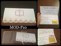 Partecipazioni Matrimonio Inviti Nozze, Fatte A Mano , Mod-p10 Pizzo Oro Rosso -  - ebay.it