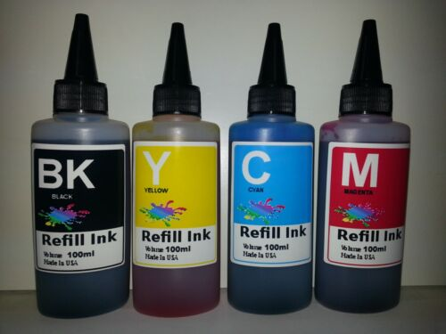 400ml bulk refill ink for HP 4 color inkjet printer