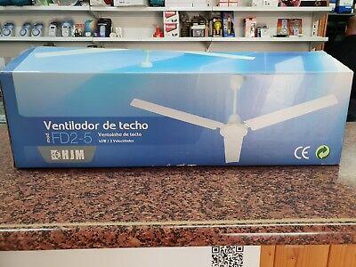 Ventilador Techo HJM FD2-5 3P 140 cm Blanco. Ventiladores de techo. SIN...