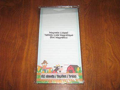 New 60 Sheet Magnetic Memo Note Pad / List Pad-Farm/Cow/Scar