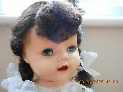 Vintage 1950s Pedigree 22 in Hard Plastic Walker Doll  Original Wig/ Clothes FAB