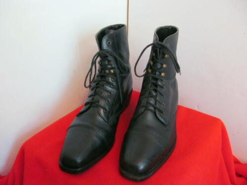 ARIAT Lace Up Black Sz 9.5 B Women Paddock Leather Boots