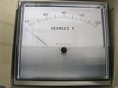 Weston 2041t Gauge 40-120 Degrees Fahrenheit Temperature Gage Fs 1-5 Vdc