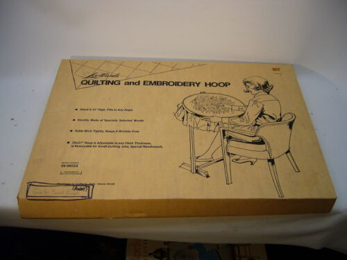 Lee Wards Quilting Embroidery Hoop & Stand New Open Box