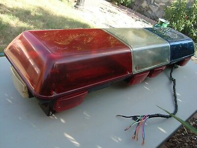 Federal Signal Streethawk Shl Vintage Light Bar 49 Inch Real Police Siren Shl B