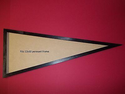 12x30 black solid wood pennant frame