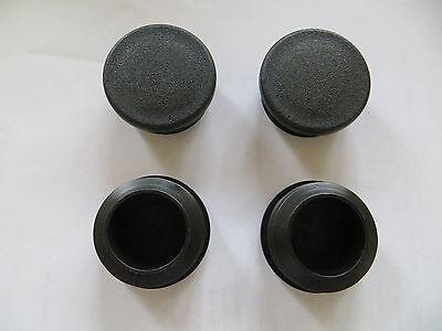 Lot Of 4 1-12 Round Tubing Plastic Plug 1.5 Inch Diameter End Cap Pipe Tube