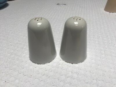 Vintage Homer Laughlin Jubilee Mist Gray Shakers