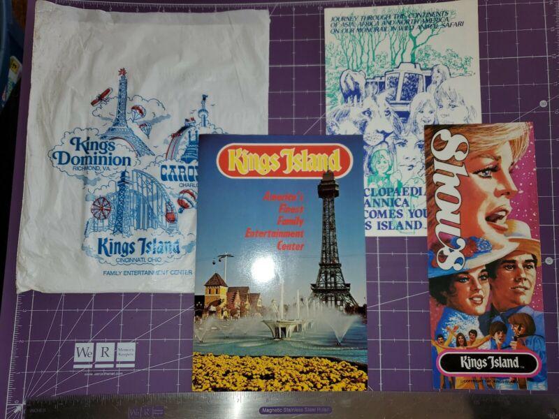 1979/1981 Kings Island amusement park lot/guidebook show schedule bag map