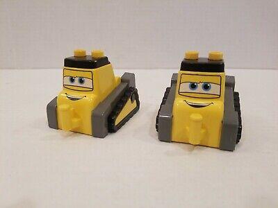 LEGO Duplo Disney Planes Yellow Drip Bulldozer Fire and Rescue ( Lot of 2 )