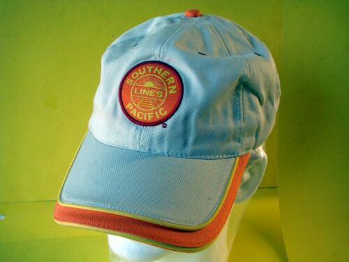 NOS. Southern Pacific Railroad Hat,Tan,Orange & Yellow w/ Strap back Adjustable