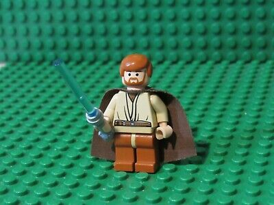 Lego Star Wars minifigure Obi Wan Kenobi Jedi minifig 7255 robe OK27