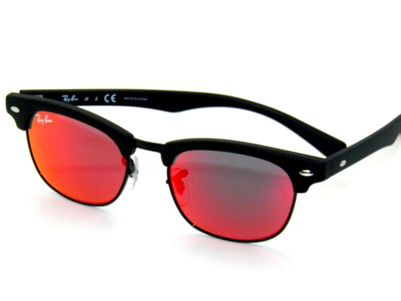 RAY BAN kids sunglasses RJ 9050S MATTE BLACK/RED MIRROR 100S6Q JR 9050