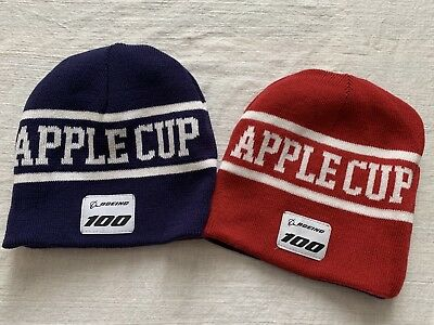 Apple Cup Series Knit Hat Reversible Blue Crimson Red Beanie College Football - Crimson Knit Beanie