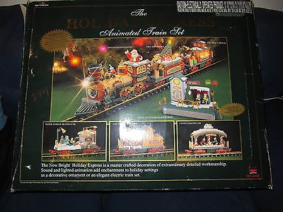 New Bright Holiday Express G scale Animated Christmas Train Set #387 Rare