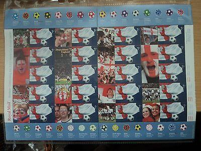GB 2002 Royal Mail Smiler Sheet Football World Cup LS8