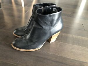 Black expression booties size 9