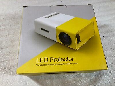 LED Mini Video Projector White Yellow Nice