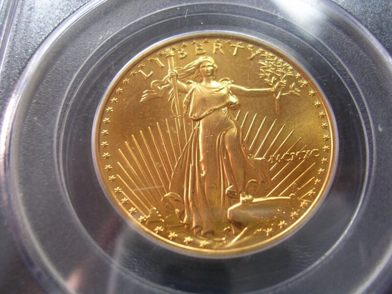 1990 GOLD 1/2 OZ EAGLE $25 PCGS  Label error   UNC