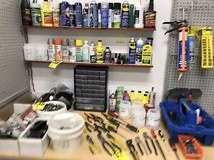 Assorted Parts from Scooter Repair Store
