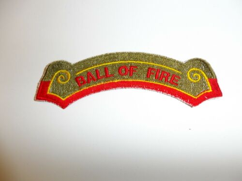 e1464 Korea US Army 40th Infantry Division Ball of Fire tab only R21A1