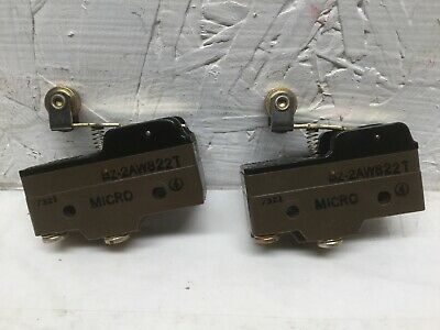 Micro Switch Bz-2aw822t Roller Lever Limit Switch 15a 125 250 Or 480 Vac 2pk