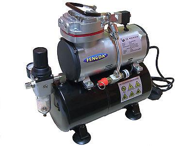 Hobby Airbrush Kompressor mit dem Druckbehälter Fengda® AS-189