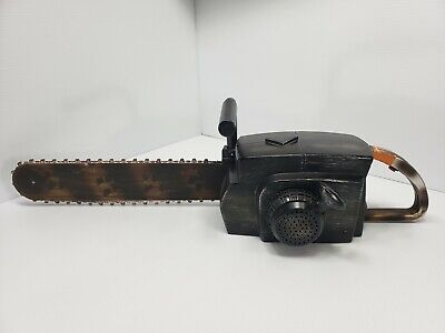 GEMMY HALLOWEEN CHAINSAW PROP ANIMATED SOUND & MOVING CHAIN Costume Cosplay