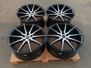19x8.5 19x9.5 VSR Atrium 5x114.3 Staggered Wheels Polished Concave Offset Rims
