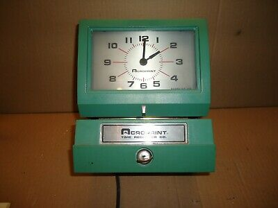 Acroprint 150nr4 Time Recorder Clock Electric Automatic Punch All Working