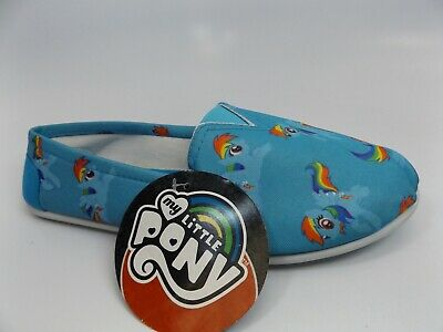 My Little Pony Rainbow Dash Allover Slip On Shoes Women Shoes SZ 7-8 M NEW - Rainbow Dash Shoes