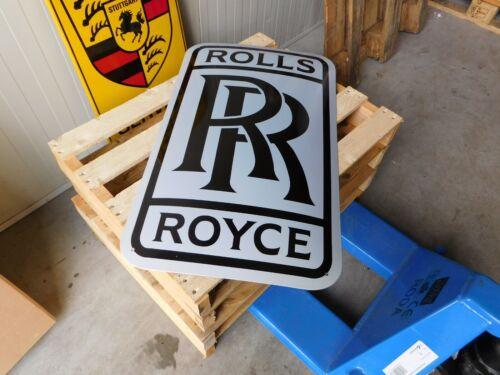 ROLLS ROYCE XXL Garage Dealer Porcelain Enamel Vintage Logo Sub Dealership Sign