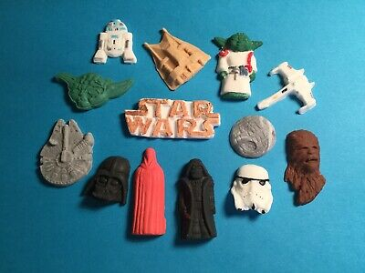 EDIBLE SUGARPASTE STAR WARS THEMED Cupcake Toppers  x 13