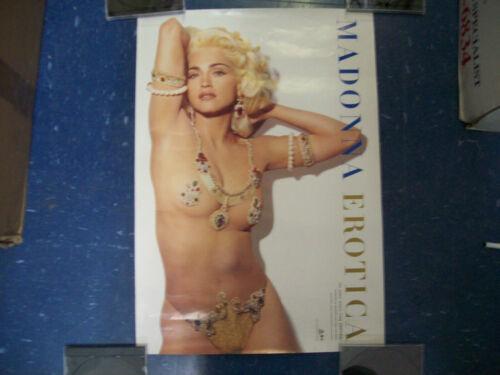 "1992 Madonna Erotica 20.5"" x 14.5"" Poster"