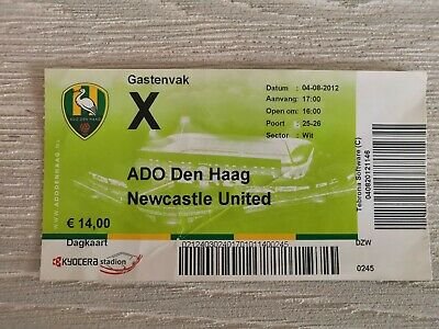 Ticket ADO Den Haag - Newcastle United 2012 Friendly
