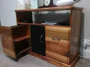 TV unit. (Black wood) Colac Colac-Otway Area Preview