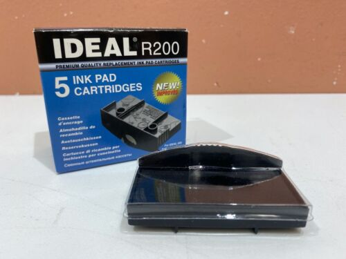 Ideal R200 Ink Pad Cartridge, Black, New, Price for Single Pad
