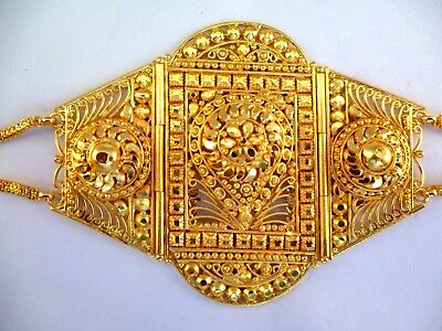 22k Gold Arm (22K Gold Plated Indian Bollywood Fashion Bajubandh Upper Arm Bracelet 1 pc set )