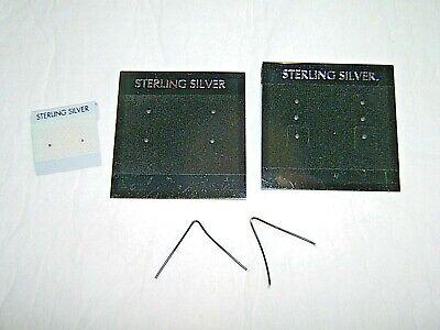 150t Sterling Silverplastic Earring Display Hang Cards- 3 Varieties Twist Wire