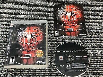 Spider Man 3 (Sony PlayStation 3 PS3, 2007) Complete Video Game W/ Manual