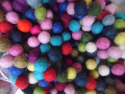 Wool Felt Balls,1cm,x Packs of 50 Mixed Colours