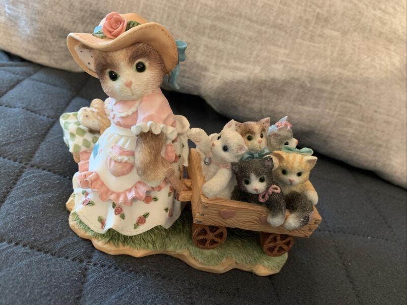 Calico Kittens by Enesco Priscilla Hillman MOM- Maker of Miracles Figure
